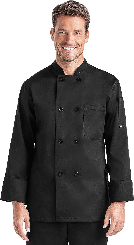 Men/'s Long Sleeve Chef Coat S-2X, 2 Colors