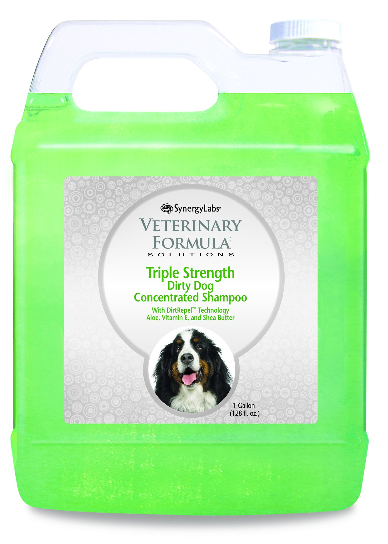 Veterinary Formula Solutions Triple Strength Dirty Dog Concentrated Shampoo, 1 Gallon (128oz) - Shea Oil, Aloe Vera, Vitamin E, & Wheat Protein Moisturizes Skin and Conditions Coat During Deep Clean