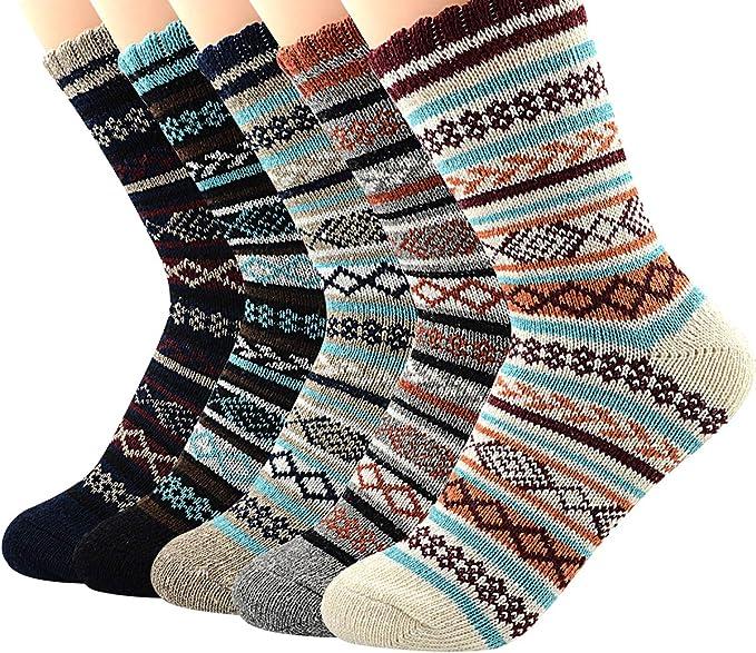 Mens Women Ladies Long Thick Chunky Wool Work Hiking Boot Socks Warm