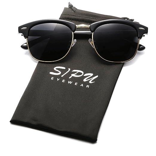 93cb228ed1e85 Vintage Half Frame Polarzied Sunglasses SIPU Retro Brand Sun Glasses for  Men and Women