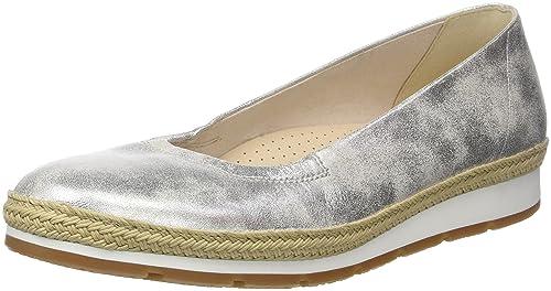 662772ecc6 Gabor Shoes Women's Comfort Sport Ballet Flats, Multicolor (Silber Jute), 4  UK