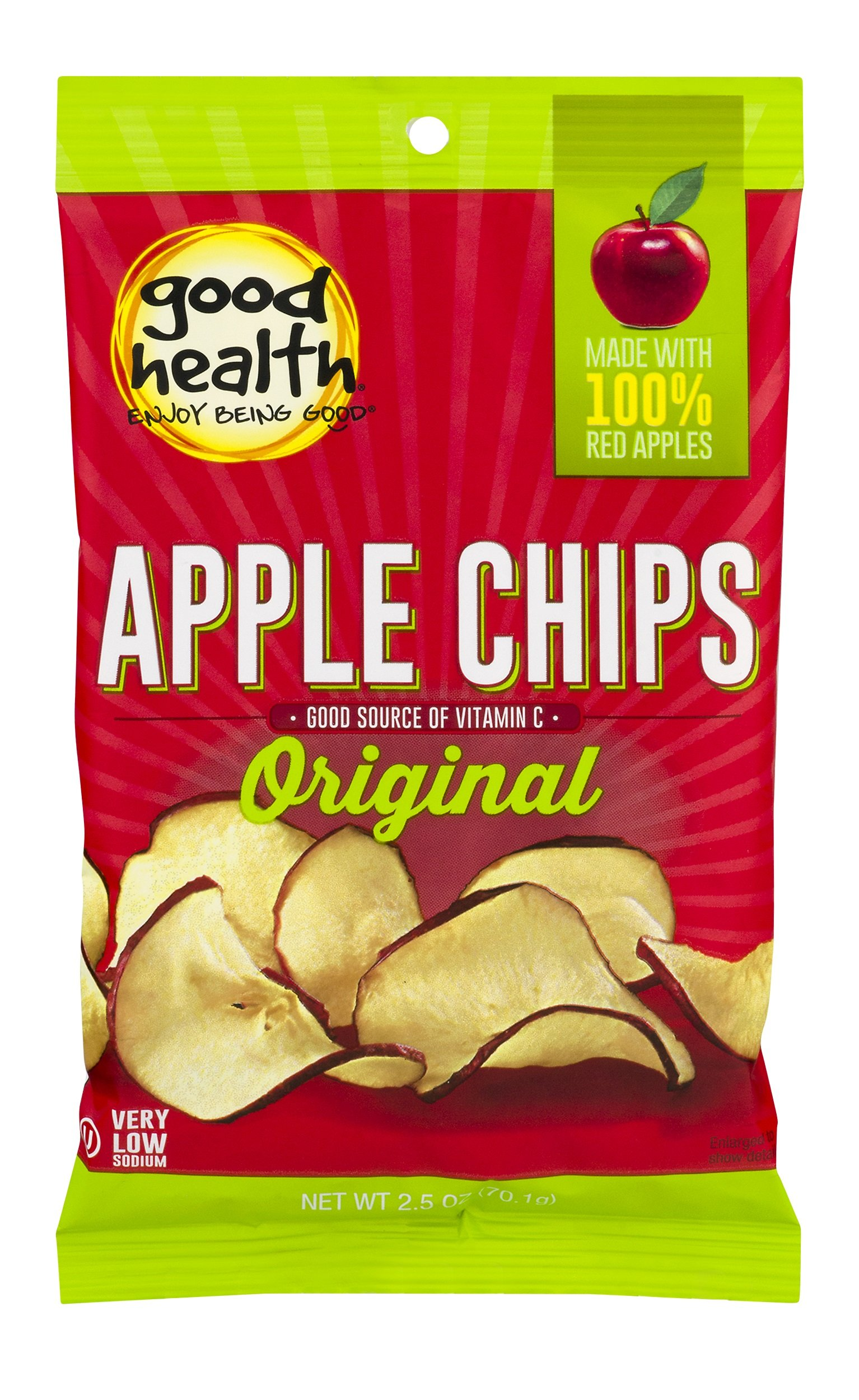 Good Health Natural Apple Chips, 3 Ounce - 4 per case by Goodhealth
