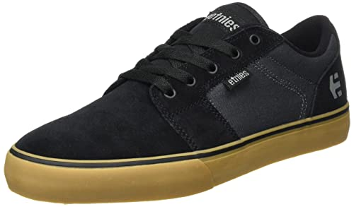 Etnies Mens Barge Ls Skateboarding Shoes Black BlackDark GreyGum