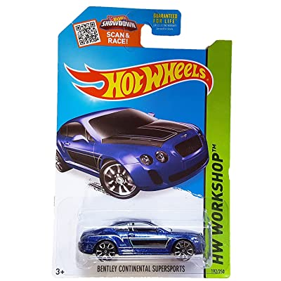 Hot Wheels, 2015 HW Workshop, Bentley Continential Supersports [Blue] 192/250: Toys & Games