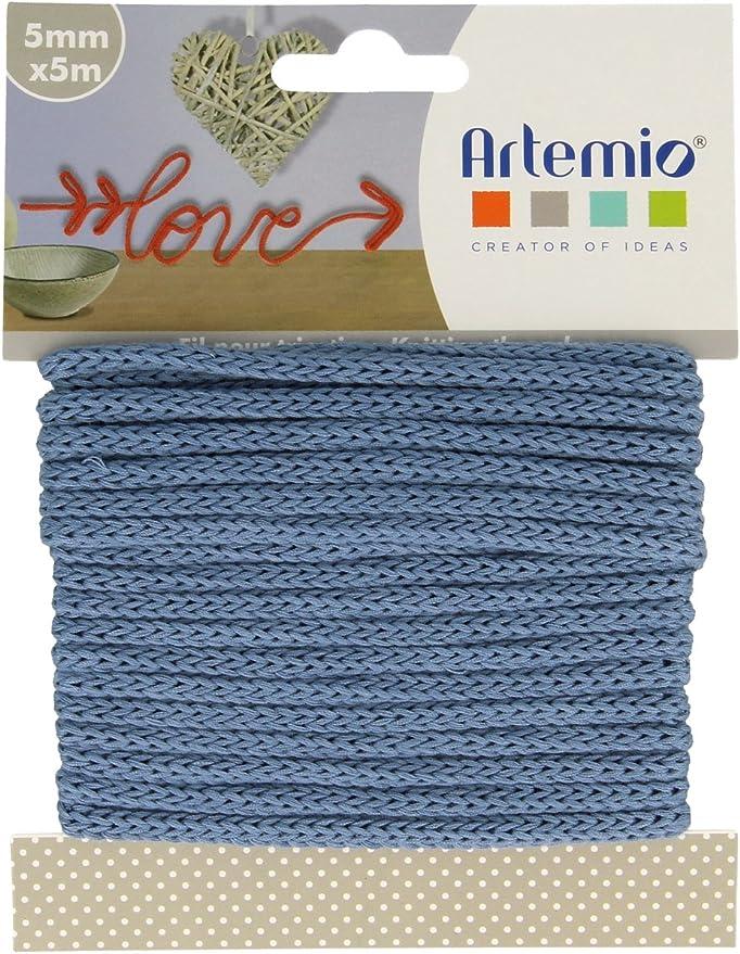 Artemio 5 mm x 5 m Color Azul Claro Ovillo de Hilo para Tejer