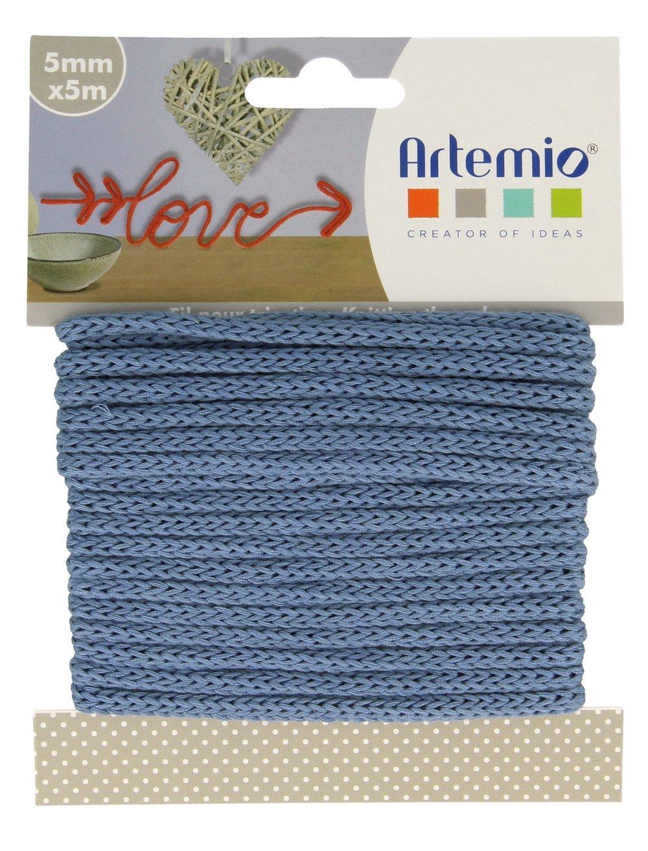 azul Hilo para tejer 5 mm x 5 m