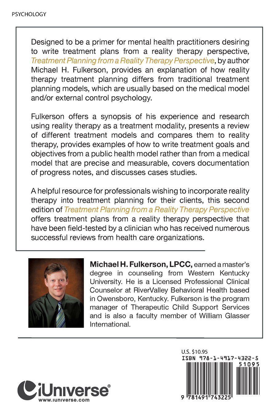 Treatment Planning From A Reality Therapy Perspective Michael H