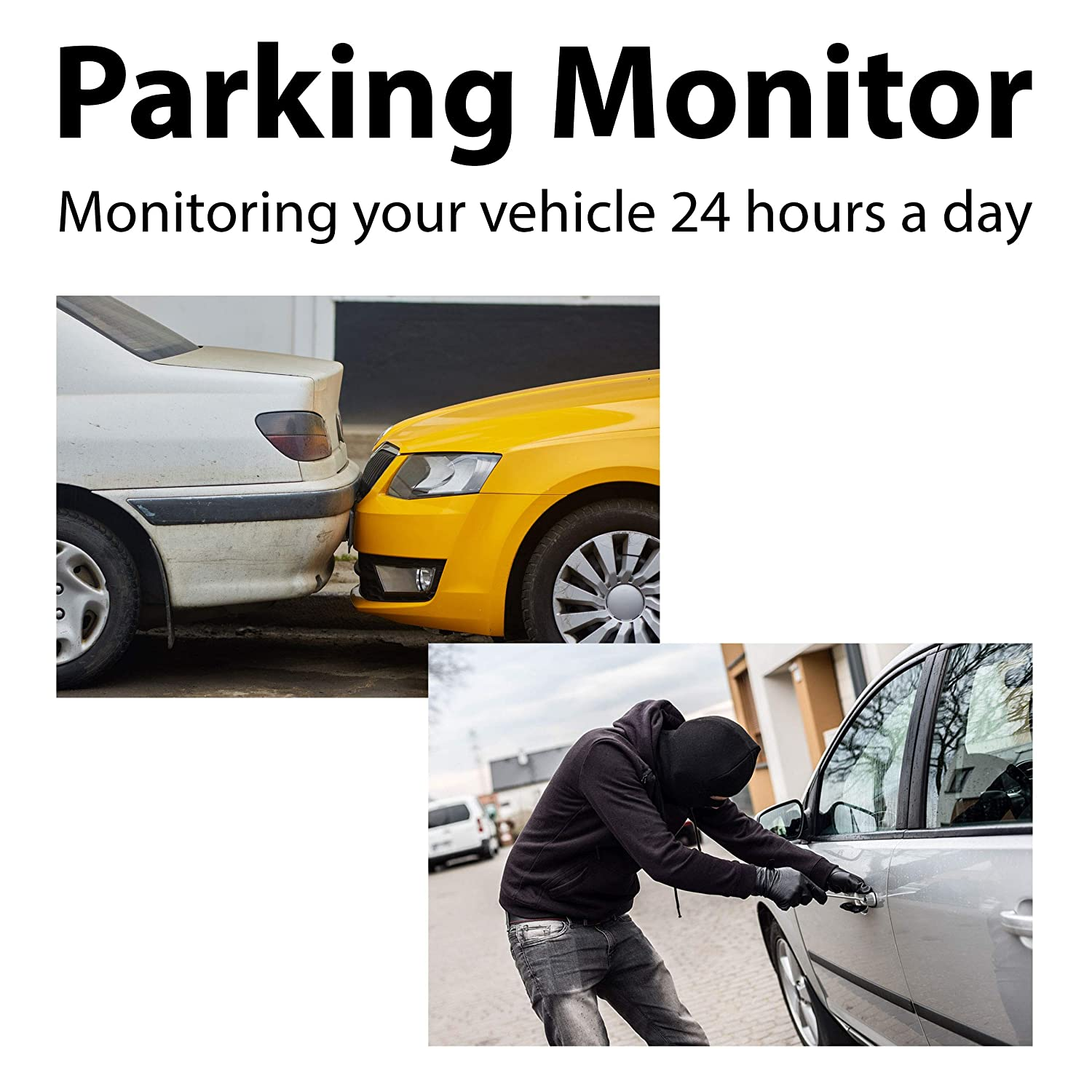 """Loop Recording Backup Camera Rexing M1 HD Dual Channel Rear View 10/"""" IPS Touch Screen Mirror Dash Cam 1296p G-Sensor 720p Wide Angle Dashboard Streaming Media Recorder DVR with Rear Camera"""