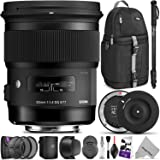 Sigma 50mm F1.4 Art DG HSM Lens for Canon DSLR Cameras w/Sigma USB Dock & Advanced Photo and Travel Bundle