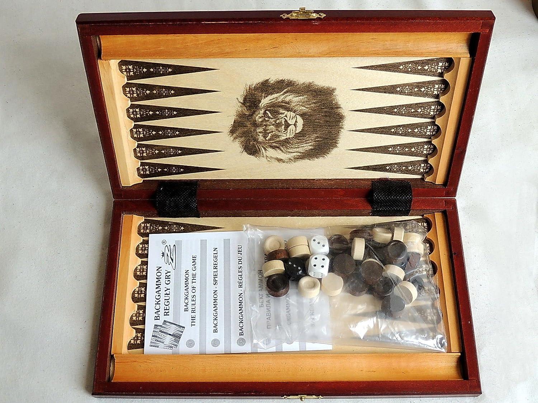 Great Classic Backgammon Wooden Set 30 X 34 Cm In Stylish Cassette
