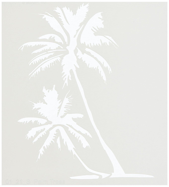 Stencil1 15 cm x 15 cm, motivo: palme, in acrilico S1_01_21_S