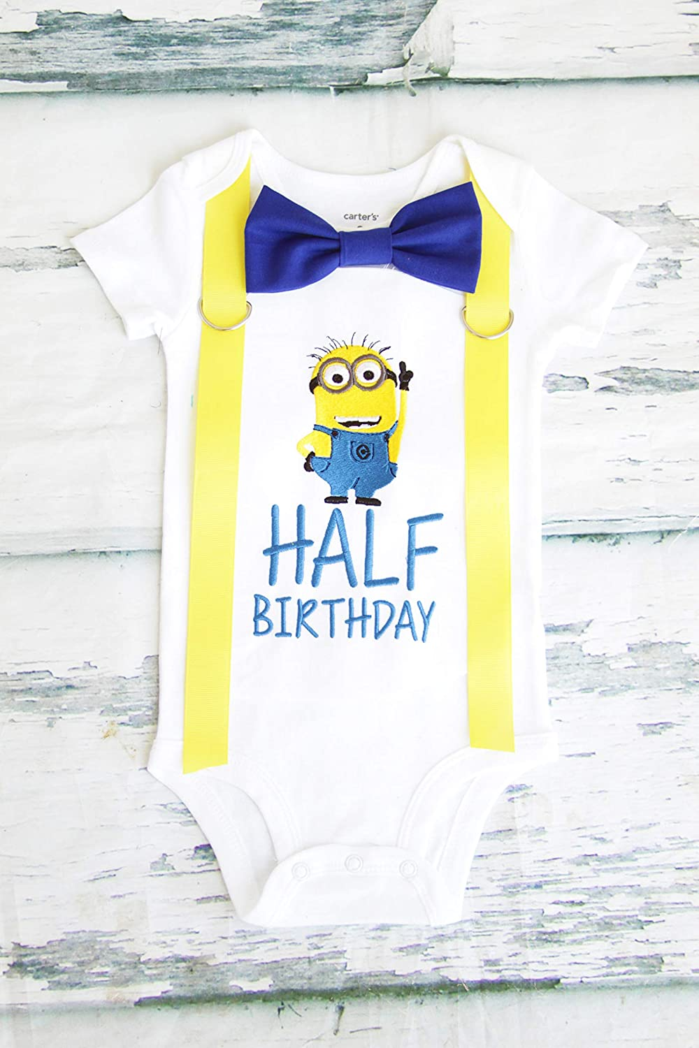 Amazon Boy 6 Months Birthday Outfit Half Minion Jerry 1 2 Minions Family Shirts