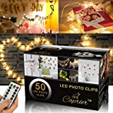 CAPRIER Luxury Teen Girl Room Decor, Photo Clips String Light, 50 LED Clips, Teen Room Decor, Dimmable 8 Modes Timer…