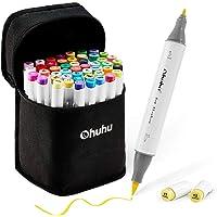Ohuhuhuhu-markeerstift met dubbele punt (penseel en fijne punt) voor kinderen, kunstenaars-kunstmarker voor het kleuren…
