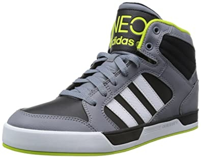 Mens adidas NEO Mens BBNeo Raleigh Mid Top Trainers in Black UK 9.5