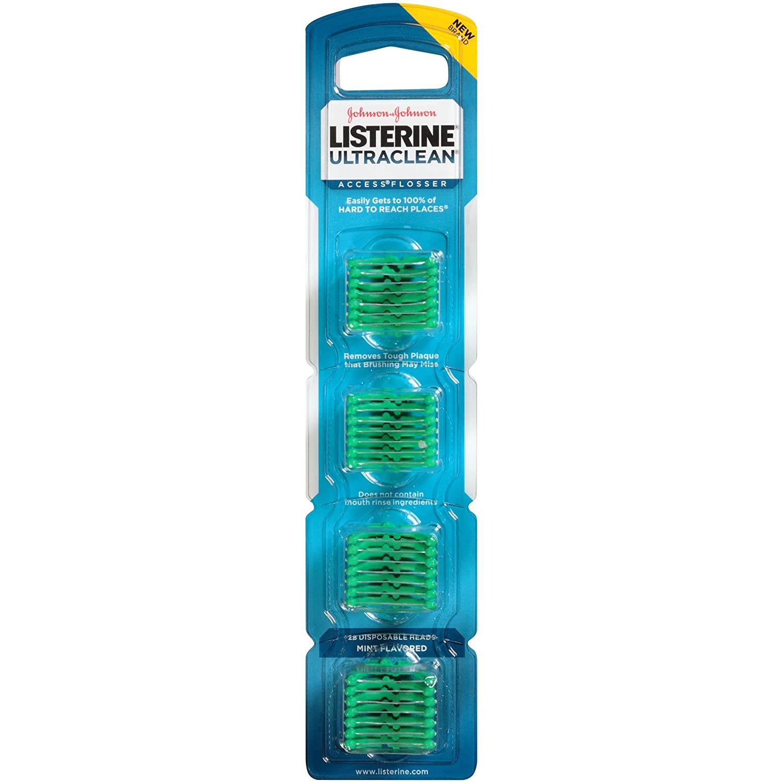 Listerine Ultra Clean Access Flosser Mint Refill Heads, 28 Count 012547440195