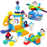Bristle Interlocking Building Blocks for Boys and Girls, Stem Learning Idea Christmas Birthday Gifts for Early Skill…