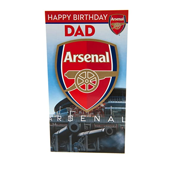 Gift Wrap New Arsenal Happy Birthday Brother Card with badge