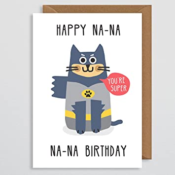 Katze Geburtstag Karte Funny Retro Comic Book Geburtstag Karte