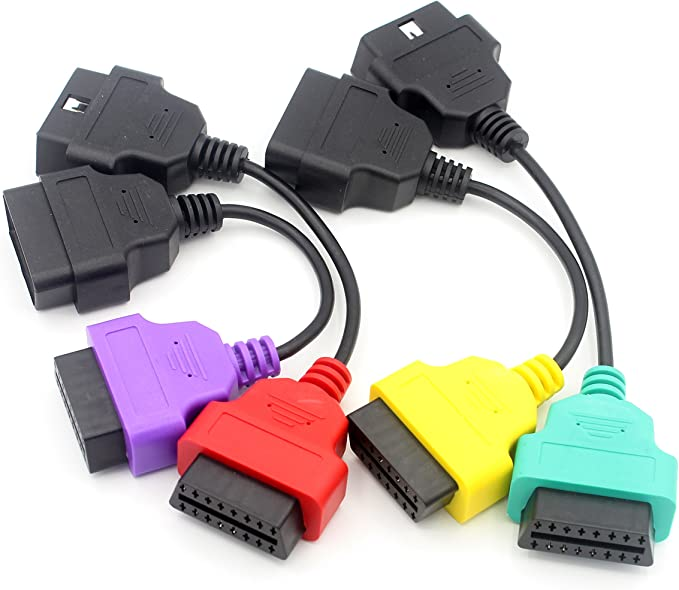 Loonggate Obd Ii Scan Adapter Vier Farben Sets Obd2 Stecker Diagnose Kabel Für Multiecuscan Fiatecu Auto