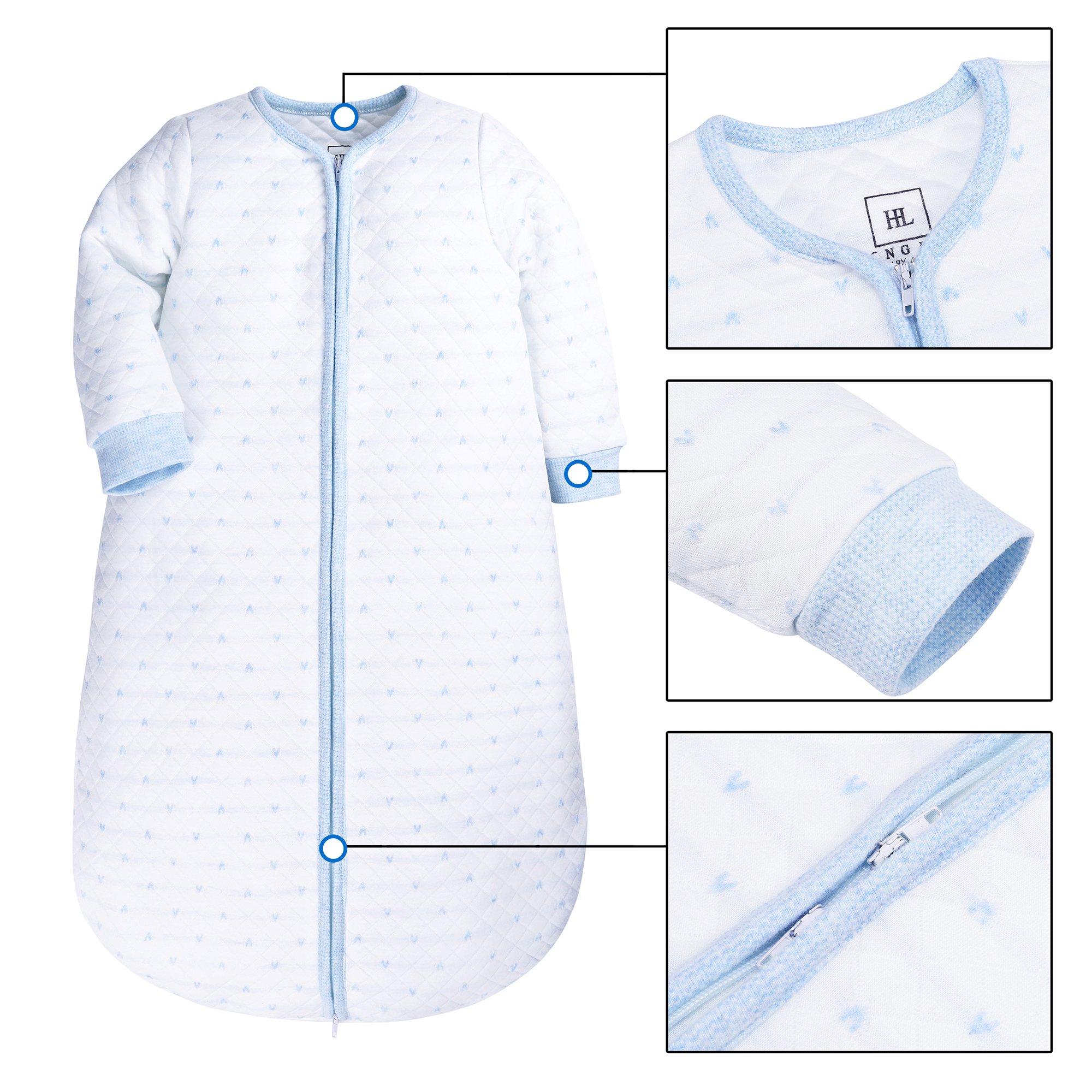 SHENGWEN Baby Sleep Sack Boys Girls Sleeping Bag Wearable Blanket Winter (BlueDots, 0-6m) by SHENGWEN (Image #2)