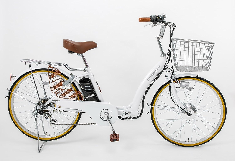 21Technology DA246折りたたみ電動アシスト自転車 24インチ 6段変速 B079XWHX75 パールホワイト パールホワイト
