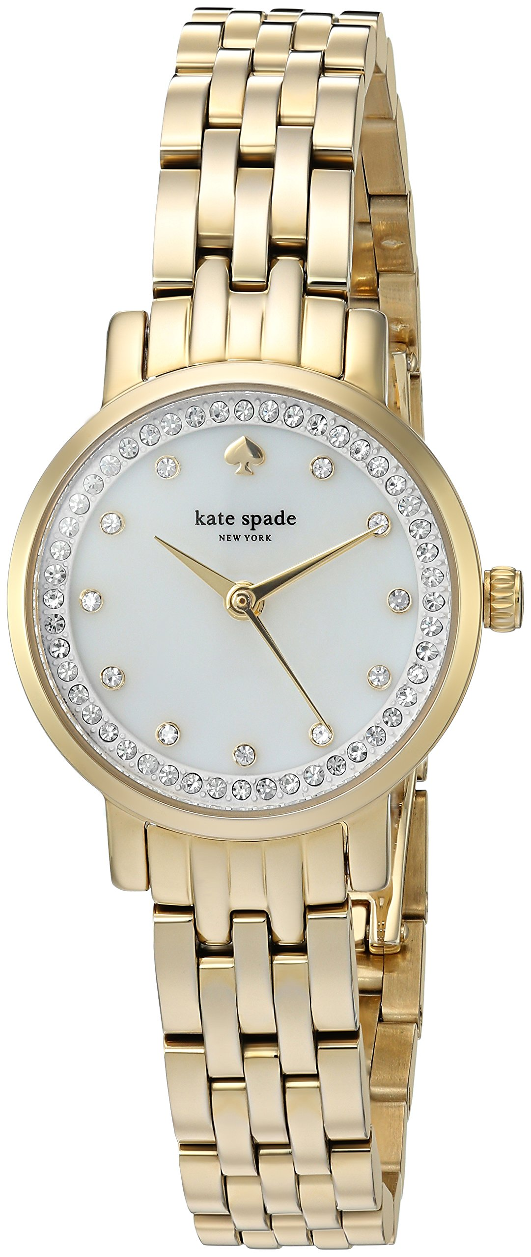 kate spade new york Women's 'Mini Monterey' Quartz Stainless Steel Casual Watch, Color:Gold-Toned (Model: KSW1242)