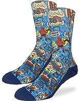 Good Luck Sock Men's Lucha Libre Mexican Wrestlers Socks - Blue, Shoe Size 8-13