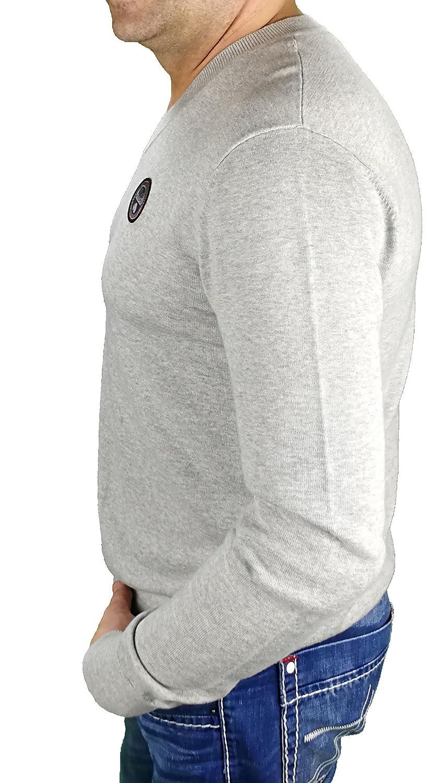 /& grau meliert 160 RA1 erh/ältlich Napapijri Leichter V-Ausschnitt Pullover NOYHT5 DOREL V in Coral