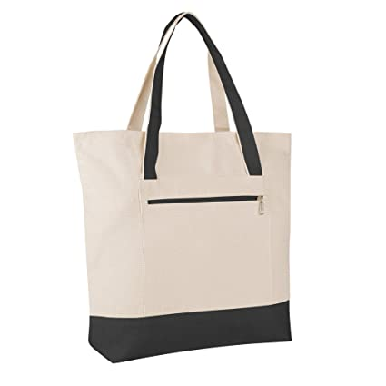 afbc9690108513 Pack of 12 - Heavy Duty Canvas Tote Bags BULK Bags Reusable Grocery  Shopping Logo Blank Luggage Totes Canvas Bags Bulk Lot Wholesale Tote Bags  with Zipper ...