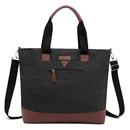 36b6f3a532df Ladies Laptop Tote Bag Large Womens Business Laptop Shoulder Bag Work Tote  Purse Office Messenger Briefcase Travel Shopping Handbag w/Strap Fits Up to  ...