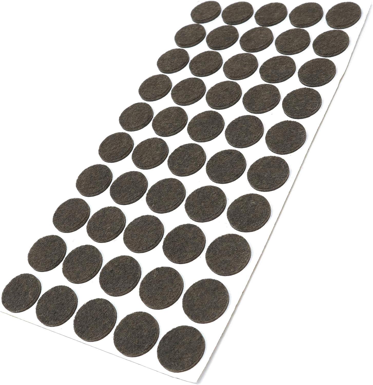 Adsamm/® rond marron /Ø 60 mm 8 x patins en feutre 3,5 mm hauteur |/patins glisseurs auto-adh/ésifs de qualit/é optimale
