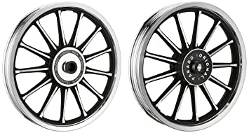 bikenwear wv001rca0104 alloy wheel for royal enfield classic 350