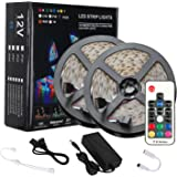 LEDテープライト 防水 高輝度 RGB LEDテープ SMD2835 10M 600連 テープled 間接照明 カラー選択 切断可能 リモコン操作 12V テープライト