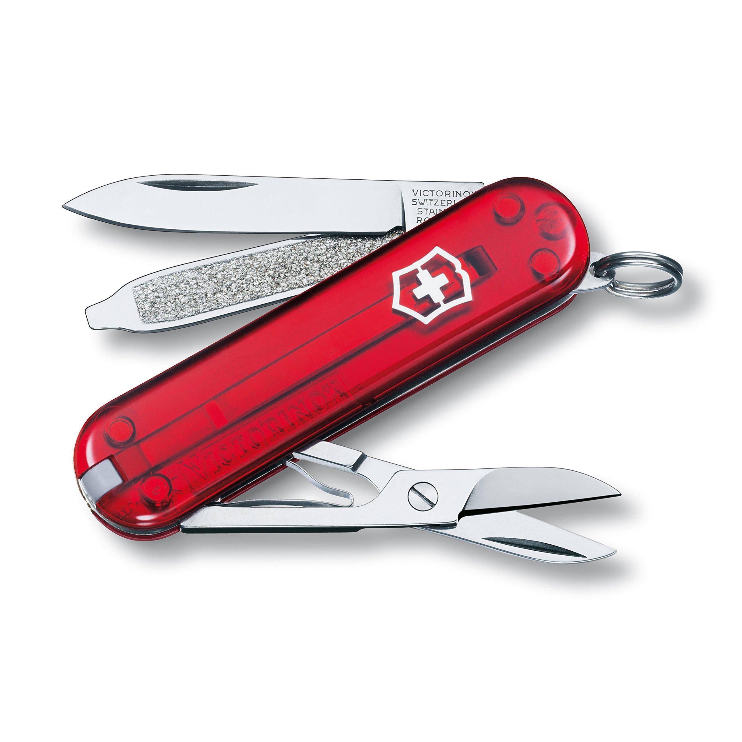 Victorinox Swiss Army Classic SD Pocket Knife, Translucent Ruby by Victorinox