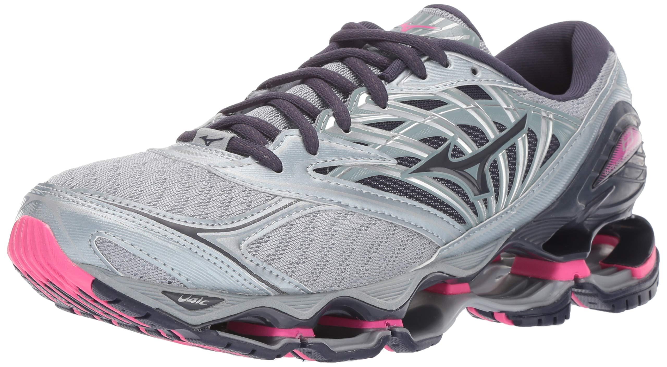 Mizuno Women's Wave Prophecy 8 Running Shoe, Quarry-Graphite 6 B US