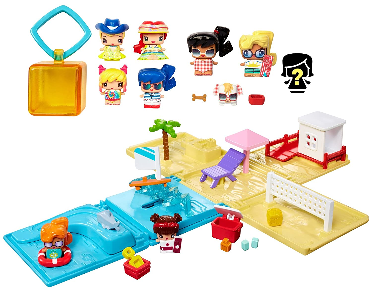 Amazon com my mini mixieqs beach party collection playset toys games