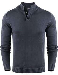 Mens Crew Neck Jumper by Stallion Knitwear Sweaters Top Pullover Sweatshirt