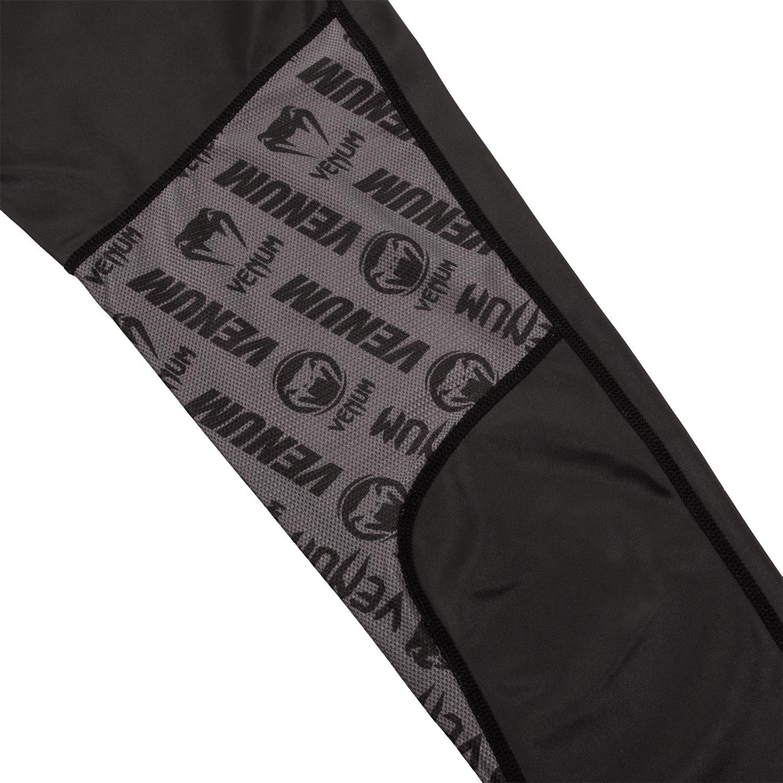 Venum Mens Logos Spats MMA BJJ Black//White VENUM-03448-108