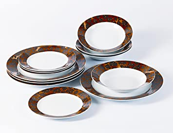 12 Piece Leopard Print Porcelain Dinner Set *FREE DELIVERY* Amazon.co.uk Kitchen u0026 Home & 12 Piece Leopard Print Porcelain Dinner Set *FREE DELIVERY*: Amazon ...