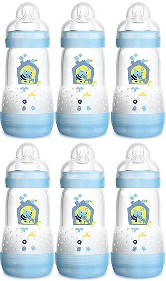 MAM Anti Colic Flaschen 260 ml mit Sauger Gr.1-6 Stück Junge blau *Angebot*