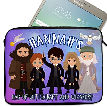 quality design 86299 4faf0 KRAFTYGIFTS Personalised Neoprene Tablet Sleeve HARRY POTTER WIZARD ...
