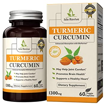 Turmeric Curcumin Capsules with BioPerine 5mg, Superior Absorption, 95%  Curcuminoids, Supplement