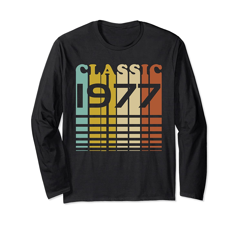 1977 Classic Birthday 40th B-Day Gift Long Sleeve Shirt-Rose