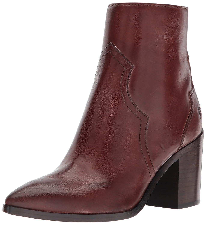 FRYE Women's Flynn Short Inside Zip Ankle Bootie B01MV44NNM 6.5 B(M) US|Brown