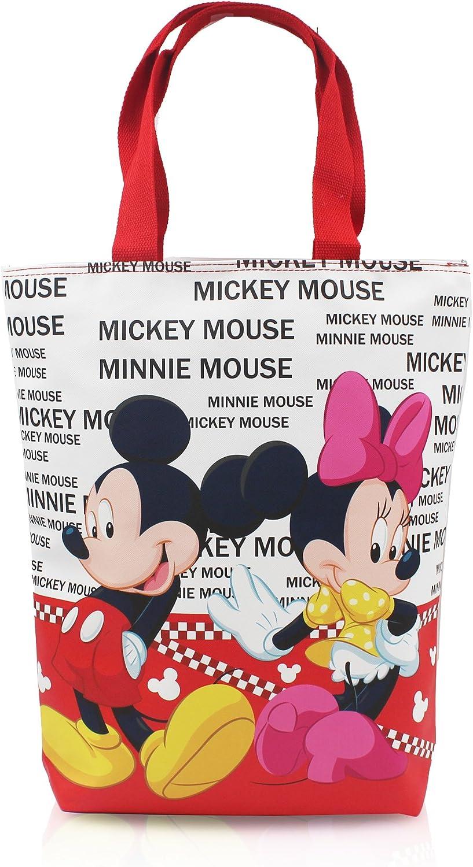 Finex Cute Cartoon Characters Reusable Tote Bag handbag with zipper for women girls kids LARGE