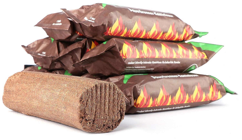 com-four® 10 feu de Bois pérenne à partir de matières premières renouvelables, Bois de Chauffage (10 pièces)