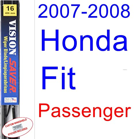 Amazon.com: 2007-2008 Honda Fit Wiper Blade (Rear) (Saver Automotive Products-Vision Saver): Automotive