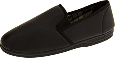 MENS PIRI PIRI SLIP ON COMFORT SLIPPERS /'BERTIE/' LARGE SIZES