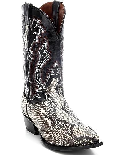 71258075aed Amazon.com | Dan Post Men's Natural Python Cowboy Boot Round Toe ...